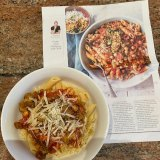 Neil Perry's penne with chickpeas: perfect for using pantry staples in these times of empty supermarket shelves.