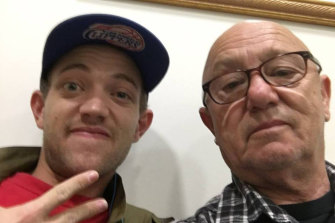 Liam Anderson with his father, Rose Tattoo frontman Angry Anderson.