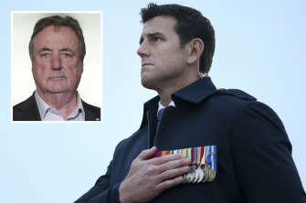 Ben Roberts-Smith and Mick Keelty (inset).