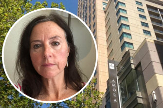 Stephanie Bryan is quarantined in Sydney's Amora Hotel instead of visiting her dying mother in Brisbane.