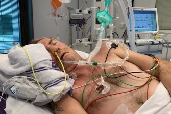 Peter Carter nearly died from flesh-eating bacteria after being sent home from Broken Hill Hospital.