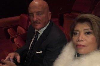 Mr Du Pont with his wife Soledad Degendorfer at the ballet.