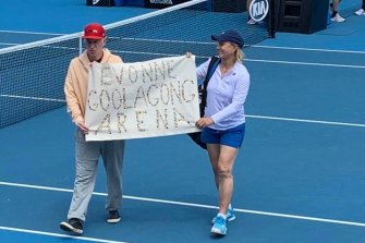John McEnroe and Martina Navratilova were on the same side at last year's Australian Open.