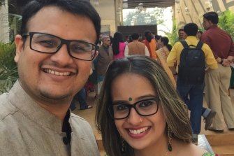 Abhijeet Gandhi and Duhita Khadepau were childhood sweethearts in India.