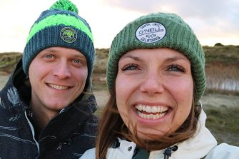 Gitta Scheenhouwer withher boyfriend Thomas Kleinegris.