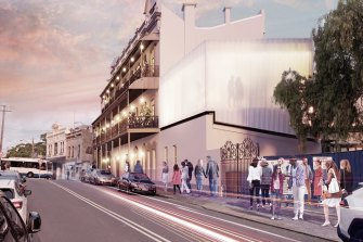 An artist's impression of The Exchange Hotel in Balmain, one of six pubs that will be transformed into boutique accommodation.