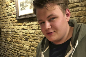 Harry Dunn, pictured, died in the crash near RAF Croughton.