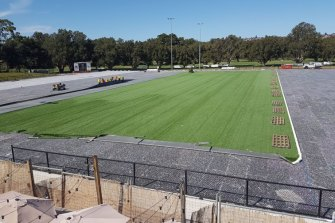 Woollahra has transformed from a regular turf field to high-tech synthetic pitch.