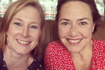 ABC journalists Leigh Sales, left, and Lisa Millar have been best friends for 20 years.
