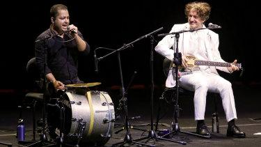 Goran Bregovic, right, and Muharem Redzepi on their Australian tour.