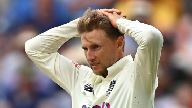 Joe Root during England's Test defeat to New Zealand at Edgbaston.