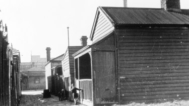 Tiny weatherboard cottages off the back streets of Melbourne.