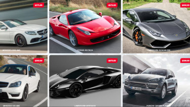 Images from the Supercar Garage website.