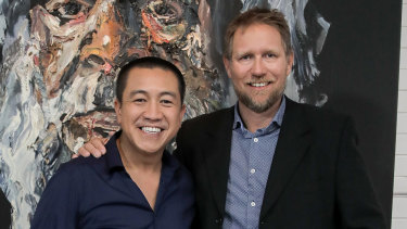Anh Do with Dr Richard Harris, who played a crucial role in the rescue of 18 schoolboys from a cave in Thailand.