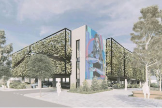 Bayside Council's renders of the Morrison government's proposed commuter car park near Hampton train station.