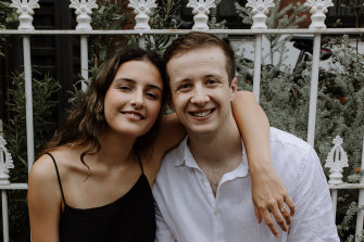 Rosa Lynes-Ross, 20, and Joshua Bowden, 23, at the time of the their engagement announcement.