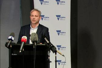 Victoria's Chief Health Officer Brett Sutton addressing the media on Friday morning.