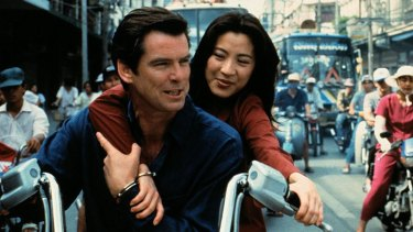 Michelle Yeoh in Tomorrow Never Dies.