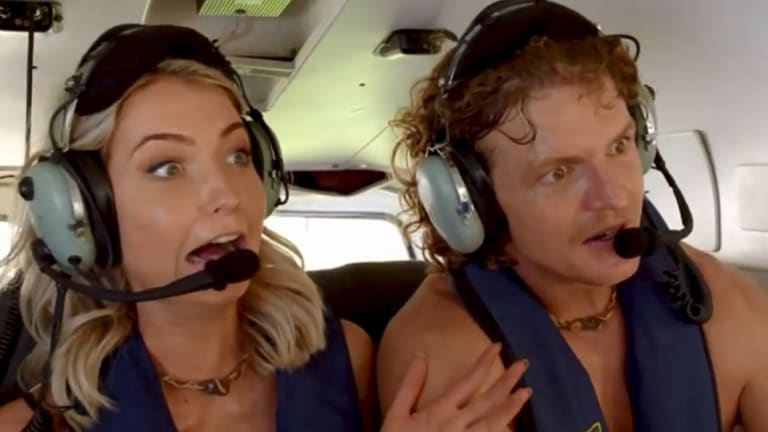 Shannon is terrified of heights - and her date with Nick involved being winched out of a helicopter.
