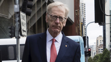 Commissioner Kenneth Hayne arrives for the Banking Royal Commission.