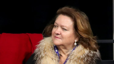 Mining mogul Gina Rinehart is now in second spot on the Rich List.