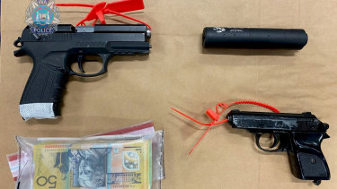 Organised Crime Squad detectives have charged a man after the discovery of firearms and explosives during a search warrant at a residence in Innaloo.