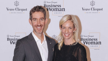 Billionaire Atlassian co-founder Scott Farquhar and wife Kim Jackson.