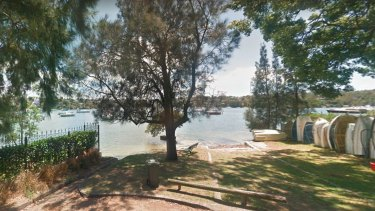 Ms Haddad's body was found at this spot in the Lane Cove River near Angelo Street, Woolwich.