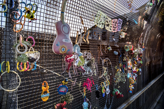 Steven Siewert related these toys left on a bridge to a child moving onto the next stage of their life.