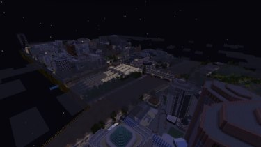 That's the Yarra and Flinders Street Station, in a Minecraft world.