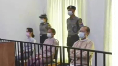 Aung San Suu Kyi makes first court appearance since coup