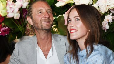Justin Hemmes with partner Kate Fowler have called it quits on their relationship. Pictured here at the Harper's Bazaar 20th Birthday party in February.
