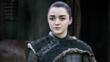 Maisie Williams as Arya Stark on Game of Thrones.
