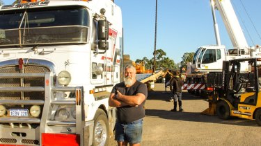 Neville Higgs made the choice to barge mining equipment across the Gulf of Carpentaria because of permit delays.