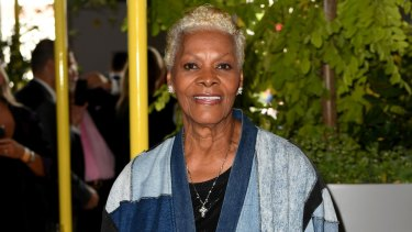 Dionne Warwick in the 1 Oliver St marquee.