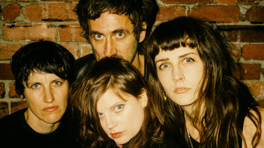 Lauren Hammel (left), Gareth Liddiard (top), Fiona Kitschin and Erica Dunn are touring again on the back of new TFS album Braindrops.