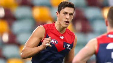 Pick of the bunch: Melbourne's No.9 draft pick Sam Weideman.