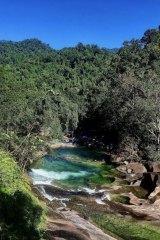 Devil's Pool at Babinda in far north Queensland.