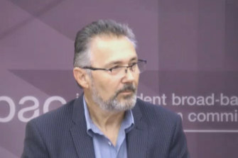 Co-director of TranscleanAlex Kyritsis appears as a witness at IBAC on Wednesday.