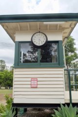 The signal box that sat above the street in Fortitude Valley.