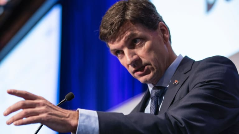 Federal Energy Minister Angus Taylor has taken aim at Woodside after the company blasted the government for inaction on climate policies.