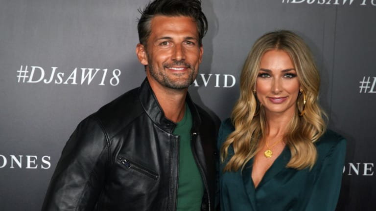 Tim Robards and Anna Heinrich in February.