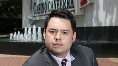 Former Aquis managing director and son of Tony Fung, Justin Fung, outside Casino Canberra in 2015. Tony Fung has now signed a deal to sell his shareholding.