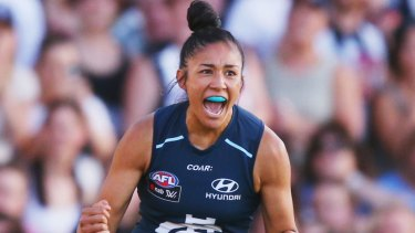 Darcy Vescio has added her voice to the chorus of those calling for a longer AFLW season.