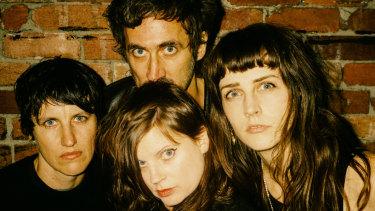 Lauren Hammel (left), Gareth Liddiard (top), Fiona Kitschin and Erica Dunn are touring again on the back of new TFS album Braindrops.
