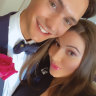 Francesca Packer in lockdown with Joh Bailey hairdresser beau