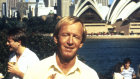 """Paul Hogan with a bbq in the 1984 Tourism Australia Campaign """"Come say G'Day""""."""