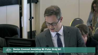 Senior Counsel Assisting Mr Peter Gray QC at the royal commission.