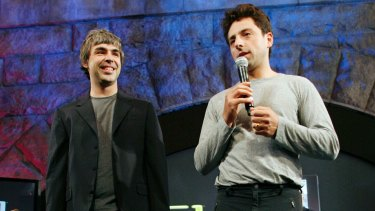 Google founders Larry Page (left), and Sergey Brin started the search giant in 1998 in Silicon Valley.