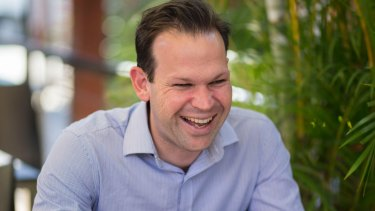 Learn geology, federal Resources Minister Matt Canavan tells students.
